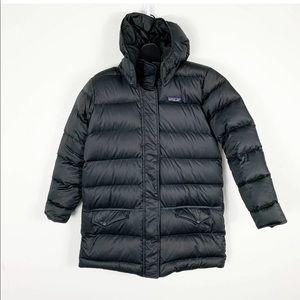 Patagonia Girls Long Puffer Coat Black